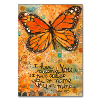 """You Are Mine"" Isaiah Prayer Card with Butterfly"