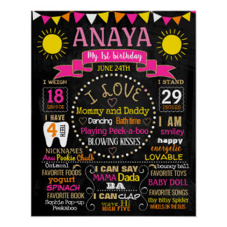 You are my sunshine birthday party chalkboard sign