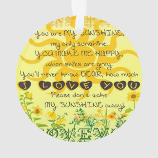 You are My Sunshine with Flowers in Yellow