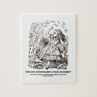 You Are Nothing But A Pack Of Cards Jigsaw Puzzle