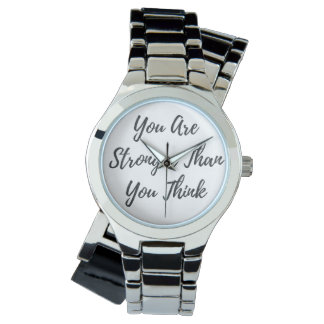 You Are Stronger Than You Think Silver Wrap Watch