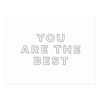 You Are The Best Postcard