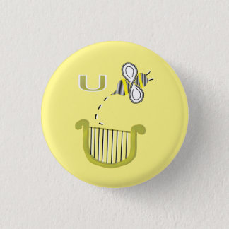 You Bee a Liar Rebus 3 Cm Round Badge