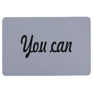you can floor mat