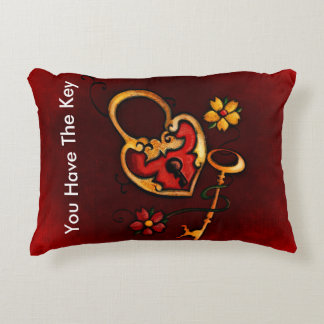 you have the key to my heart custom text accent cushion