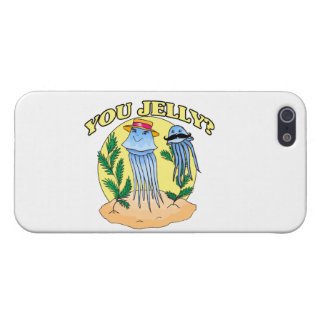 You Jelly Mustache Jellyfish Cover For iPhone 5/5S