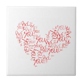 You & Me - Love - Heart Ceramic Tiles