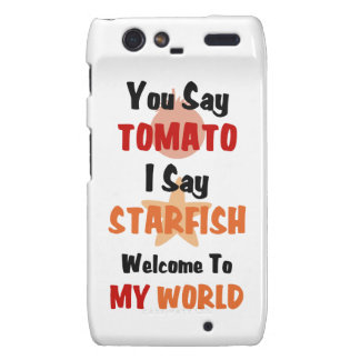 You Say Tomato I say Starfish Droid RAZR Cases