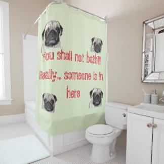 You shall not bath shower curtain