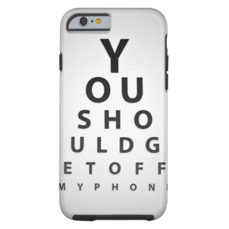 You should not touch it tough iPhone 6 case