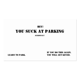You Suck At Parking Pack Of Standard Business Cards