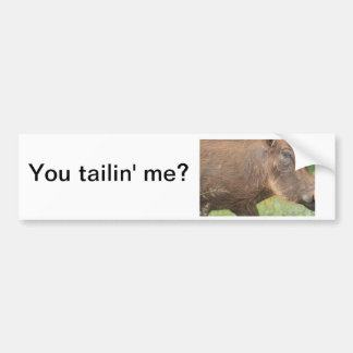 You talkin' to me? Funny warthog from Africa Bumper Sticker