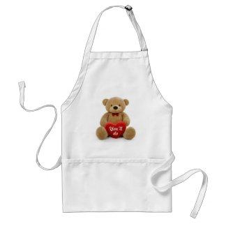 """You'll do"" teddy bear heart Standard Apron"