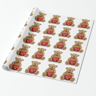"""""""You'll do"""" teddy bear heart Wrapping Paper"""