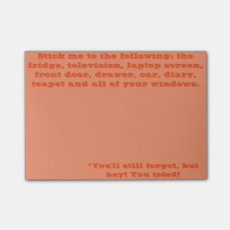 You'll Forget Anyway Post-it® Notes