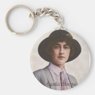 Young Agatha Christie Key Ring