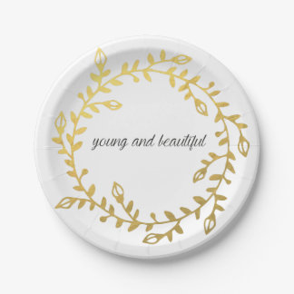Young and beautiful paperplate for your occassion paper plate