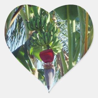 Young Bananas Heart Sticker