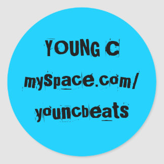 YOUNG C CLASSIC ROUND STICKER