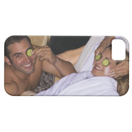 Young couple enjoying a spa treatment. iPhone 5 cases