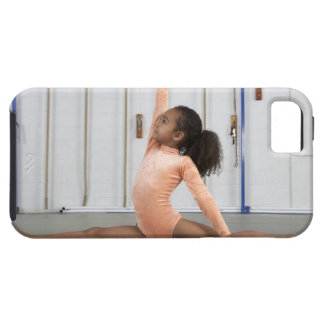 Young girl gymnast practicing her floor iPhone 5 covers