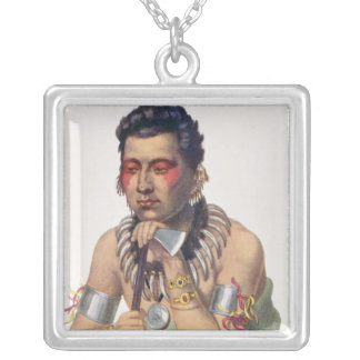Young Ma-Has-Ka, Chief of the Iowas Silver Plated Necklace