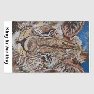Young Male Lion Rectangular Sticker