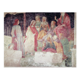 Young Man Greeted by Seven Liberal Arts Postcard