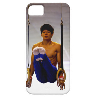 Young man practicing gymnastic rings case for the iPhone 5