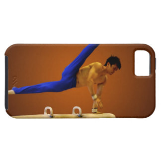 Young man practicing gymnastics on the pommel iPhone 5 covers