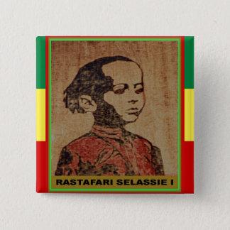 Young Ras, Young Haile Selassie I, Jah Rastafari 15 Cm Square Badge