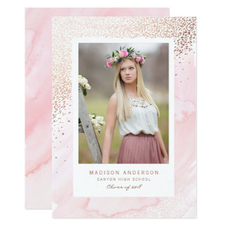 Young Wild and Free Graduation Announcement