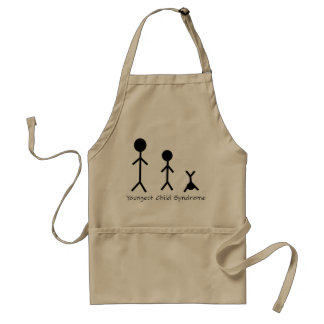 Youngest child syndrome funny apron
