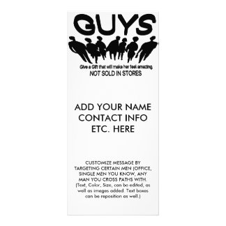 Younique Presenter Gift Giving Ideas For Men Customized Rack Card