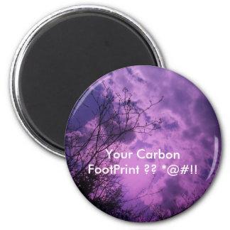 Your Carbon FootPrint 6 Cm Round Magnet