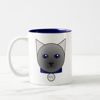 Your Cartoon Blue Siamese Cat Mug