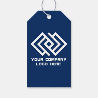 Your Company Log Gift Tags - Choose Color