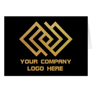 Your Company Logo Note Card Black W