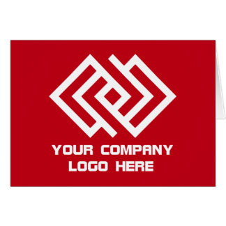 Your Company Logo Note Card Red W