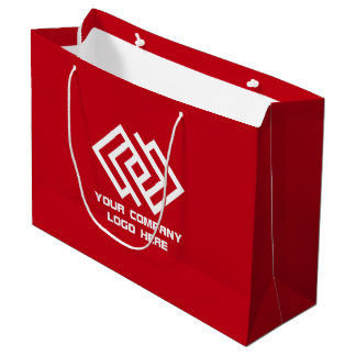 Your Company Party Logo Gift Bag Large Red