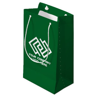 Your Company Party Logo Gift Bag Small Green
