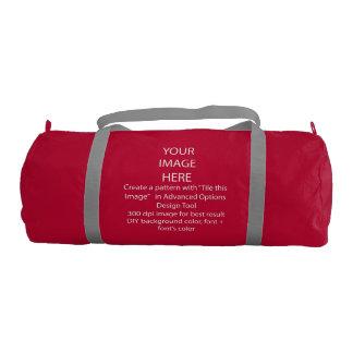 Your Custom Duffle Gym Bag, Red with Silver straps Gym Duffel Bag