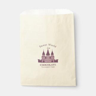 Your Custom Ecru Favor Bag-Castle Favour Bags