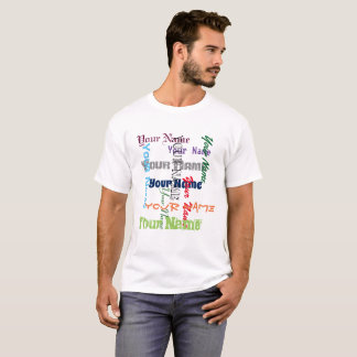Your custom name or text typography T-Shirt