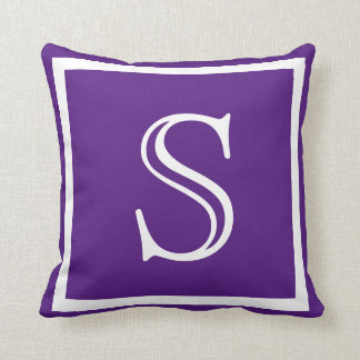 Your Custom Purple monogram Throw Pillow