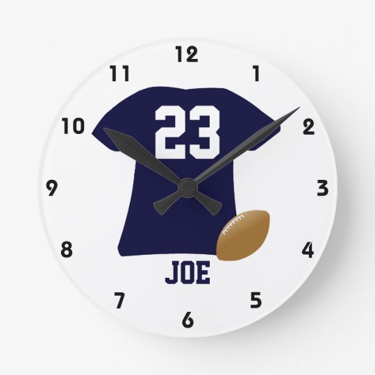 Your Football Shirt With Ball Round Clock