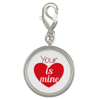 Your heart is mine charm