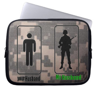 your husband, My Husband- Army wife Laptop Computer Sleeves