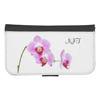 Your Initial/Monogram: Radiant Orchid Photo Samsung S4 Wallet Case