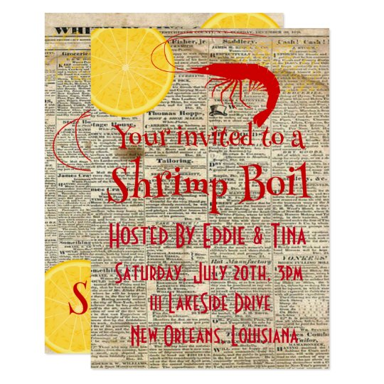 Your invited to a Shrimp Boil Card